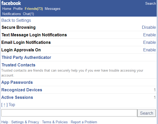 facebook-mobile-security-settings