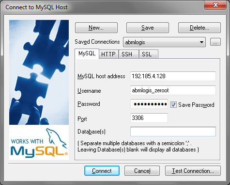 Connect to Mysql host Online