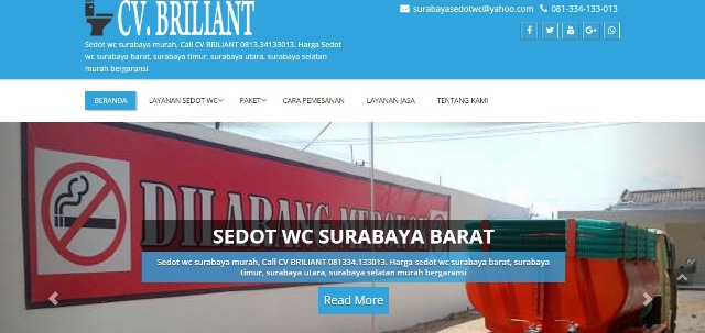 Seo website sedot wc surabaya 2017